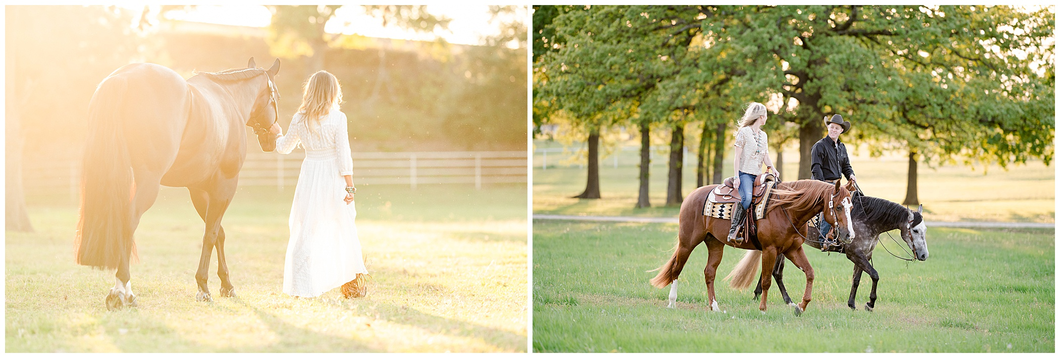 Bloopers of young girls and their horses outside during a KMP photoshoot